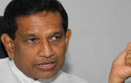 The PM has been kept out of intelligence briefings since he fell out with the president, Health Minister Rajith Senaratne told reporters.