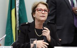 Agriculture minister Tereza Cristina Dias said a Chinese outbreak of African swine fever, threatens yet offers opportunities for Brazil's agricultural exports