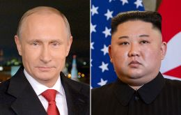 Putin and Kim are on track to meet by the end of April, Kremlin spokesman Dmitry Peskov told reporters on Monday.