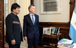 Morales discussed the plans with his counterpart, Mauricio Macri, in Buenos Aires, where they also touched on other proposals to widen energy integration.