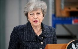 Last month, Mrs. May pledged to stand down if and when Parliament ratified her Brexit withdrawal agreement with the EU