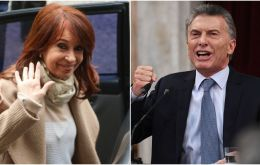 Isonomia April shows that in a runoff between Macri and Cristina Fernandez, the twice ex president would obtain 45% of the vote while the current president 36%