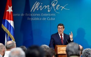 """Cuba does not have troops nor military forces nor does it participate in military or security operations in Venezuela,"" foreign minister Bruno Rodriguez said"