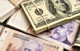The peso was up 1.12% at the open to 43.60 per U.S. dollar, before falling back to nearly unchanged from Monday's close at 44.40 to the greenback