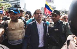 "Guaido claimed the move was the ""beginning of the end"" of Maduro's regime, and there was ""no turning back""."