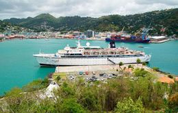 St. Lucia is providing the ship with 100 doses of measles vaccine at the request of the ship's doctor, St. Lucia's Department of Health said. (Pic AP)