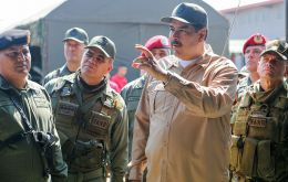 "Nicolas Maduro called on the armed forces to defeat ""any coup plotter"", following two days of clashes between opposition and pro-government forces (Pic BBC)"
