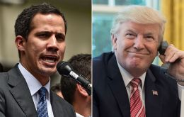 """I think President [Donald] Trump's position is very firm, which we appreciate, as does the entire world,"" Juan Guaidó told the BBC"