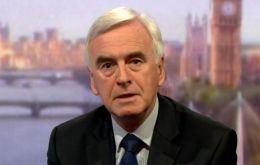 "John McDonnell said she had ""blown the confidentiality"" of the talks and ""jeopardized the negotiations"""