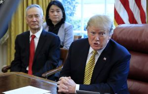 Trump delayed further tariff increases earlier in the year. The move increases pressure on China as Vice-Premier Liu He prepares to travel Washington this week