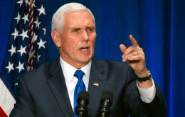 In a speech to the Americas Society at the State Department, Mr. Pence will also warn that the US will soon move to sanction 25 additional Venezuelan magistrates