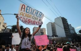 Bolsonaro's government sparked outrage last week when it revealed at least 30% cuts to the annual budgets of federally funded high schools and universities.