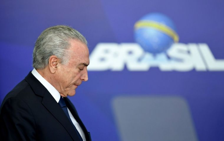 "Temer, 78, is being investigated as part of the sprawling ""Car Wash"" corruption probe that has ensnared many of Brazil's top politicians and business leaders"