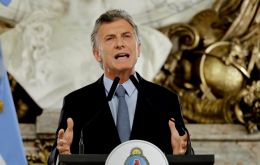 President Mauricio Macri has called for a 10 points great national agreement to secure the country's stability