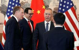 Vice-premier Liu, Trade Representative Robert Lighthizer and Treasury Secretary  Mnuchin talked for 90 minutes on Thursday and are expected to resume on Friday