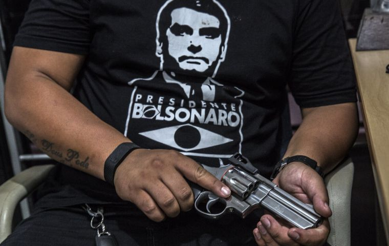 The decree presented widely loosens Brazil's strict gun laws by expanding the ability of Brazilians to sell, access and carry firearms