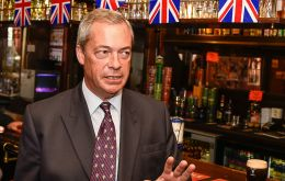 Nigel Farage's Brexit Party was in the lead, up four percentage points, on 34% while May's Conservatives had just 10% the YouGov poll for The Times showed