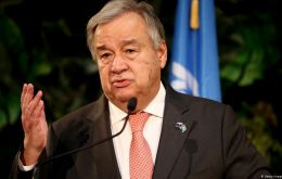"""We are seeing everywhere a clear demonstration that we are not on track to achieve the objectives defined in the Paris agreement,"" Guterres said"