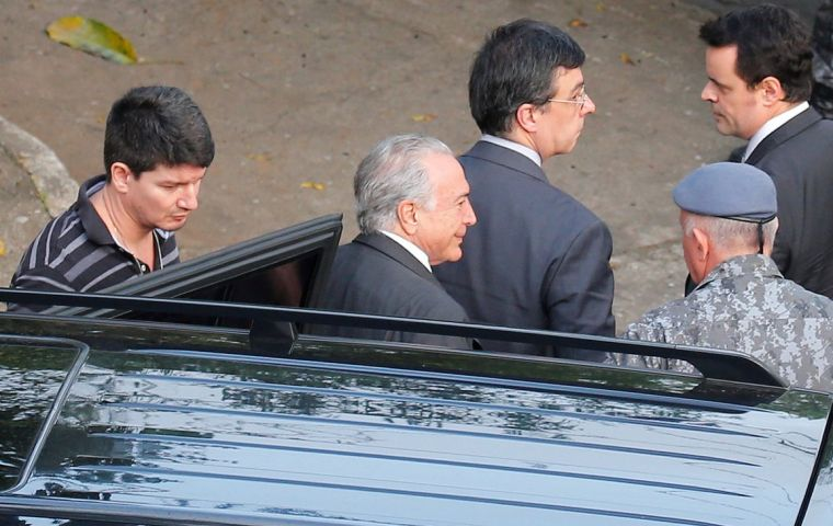 Temer is being investigated for allegedly receiving bribes from a construction company in exchange for government contracts. He denies any wrongdoing.
