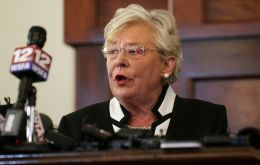 Governor Kay Ivey, a Republican, signed the measure a day after the Republican-controlled state Senate approved the ban and rejected a Democratic amendment