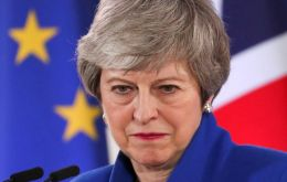 On Tuesday, May tried to buy herself time by promising to bring her Brexit deal back to Parliament in June, the same week that she's due to host President Trump