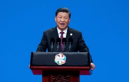 Xi was speaking publicly for the first time after trade tensions escalated over the past week and signs emerged yesterday that China's economy was hurting