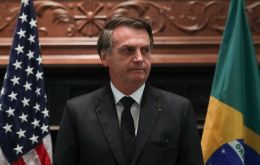 Bolsonaro made the comments while on a visit to Dallas, Texas, to receive a person of the year award from the Brazilian-American Chamber of Commerce.