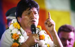 "In the next ""10 years, maybe 15 years, maximum 20 years, Bolivia will be an economic power,"" Morales promised in his speech"