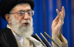 """You young people should be assured that you will witness the demise of the enemies of humanity"", said Khamenei (Pic Reuters)"