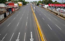 Managua's rush hour did not seem to exist on Thursday.