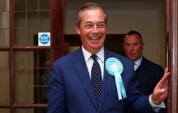 """It looks like it's going to be a big win for the Brexit Party,"" Farage told reporters as he arrived in Southampton for a vote count for the South East region"