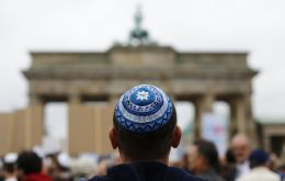 """I can't recommend Jews to wear the Kippah anytime anywhere in Germany,"" said Klein. (Pic RT)<br /> <br />"