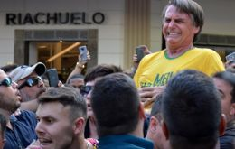 Bolsonaro, 64, suffered a deep and life-threatening wound to his intestines and lost 40% of his blood when he was stabbed in the stomach at a rally in Minas Gerais
