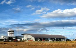 The Punta Arenas internacional airport terminal