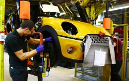 "In what it called ""an extraordinary month"", the SMMT said only 70,971 cars rolled off production lines"