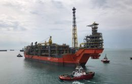 A floating production, storage and offloading vessels (FPSOs) currently operating off the coast of Brazil