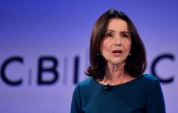 "Director general Carolyn Fairbairn told BBC Radio 4's Today program that a no-deal Brexit should be an option ""that is not even considered"""