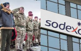 Sodexo has been serving the military in Falklands since 2001, providing catering,  administration, tailoring, laundry, dry cleaning, office and domestic cleaning