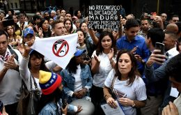 Venezuelans protests in Buenos Aires against Nicolas Maduro's government in January. Photo: Mauricio Luna