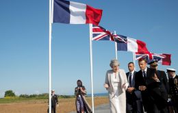 Macron offered his country's heartfelt thanks for the sacrifices of allied partners in liberating France