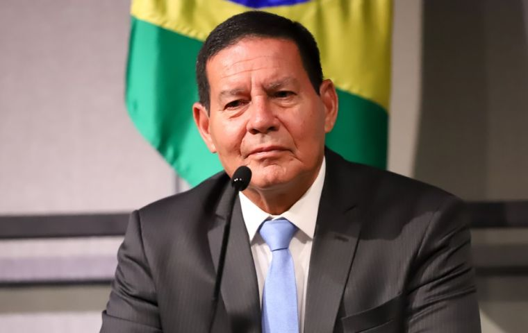 Vice-president Mourao, who met with Huawei CEO Ren Zhengfei on a trip to China, said Brazil has no plans to bar Huawei when it launches its 5G network