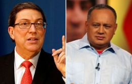 "Cuban Foreign Minister Bruno Rodriguez said on Twitter he had held a ""fraternal and useful meeting"" with Cabello in which he expressed his country's ""solidarity"""