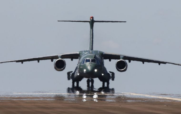 The Brazilian military's brand new multi-functional twin-engine cargo plane, Embraer KC-390, will be tested US military's range: Yuma Proving Ground