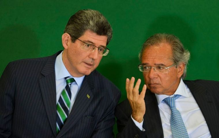 Joaquim Levy (left), a University of Chicago-educated economist and former finance minister said he has sent a note of resignation to Economy Minister Paulo Guedes.
