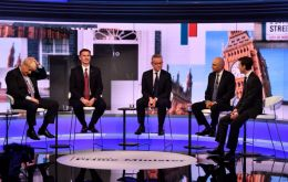 The five candidates still running, Boris Johnson, Jeremy Hunt, Michael Gove, Rory Stewart and Sajid Javid
