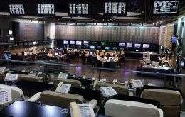 Returning from a three-day weekend, Argentine stocks rose about 2% and scaled an all-time high before trading 0.8% higher, while the currency rose more than 1%. (Getty Images)