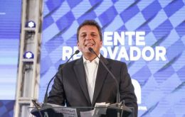 Massa, a centrist politician who had himself eyed a presidential run, struck an alliance last week with Alberto Fernandez and Cristina Fernandez de Kirchner