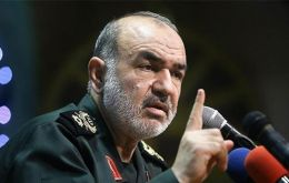"""Borders are our red lines. Any enemy that invades these borders will not return [home],"" Hossein Salami, commander-in-chief of the Revolutionary Guard"