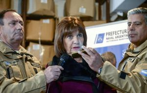 """We're talking of some thousand weapons  in a triangle operation, from US and Europe to Argentina, and then to Paraguay and Brazil"", minister Bullrich said"