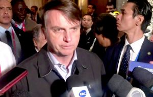 """Brazil can be an example for Germany even in the environment,"" Bolsonaro told reporters in Osaka. ""They have a lot to learn from us."""